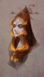 Midna Quick Painting by nna
