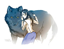 Snow Wolf by lorna-ka