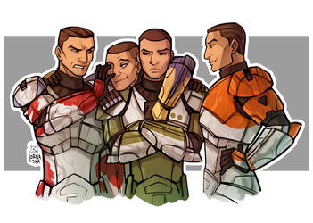Republic Commando - Delta squad by lorna-ka