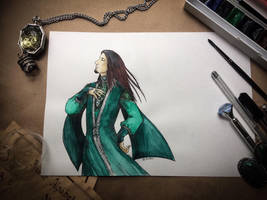 Salazar Slytherin. The ambitious. by Aquamirral