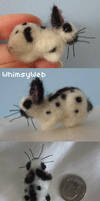 Needle Felted Mini Rex Rabbit by WhimsyWeb