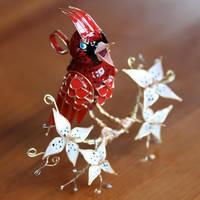 Cardinal Ornament by stillifewithshadow