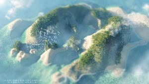 Caribbean Island by Hendricbuenck