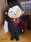 3D origami Phantom of the Opera character: Erik #1 by Iveyn-Adler