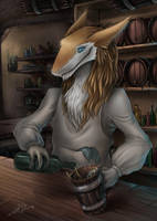 Sergal inn keeper by Letse-Fursona