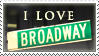 Broadway stamp by aftersunsets