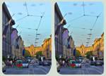 Munich, Maximilian Avenue 3D ::: HDR Cross Eye by zour