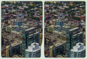 Toronto from above 3-D / CrossEye / Stereoscopy by zour