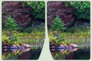 Raby Lake 3-D / CrossEye / Stereoscopy / HDR / Raw by zour