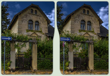 Alte Villa in Blankenburg 3-D / CrossView / Stereo by zour