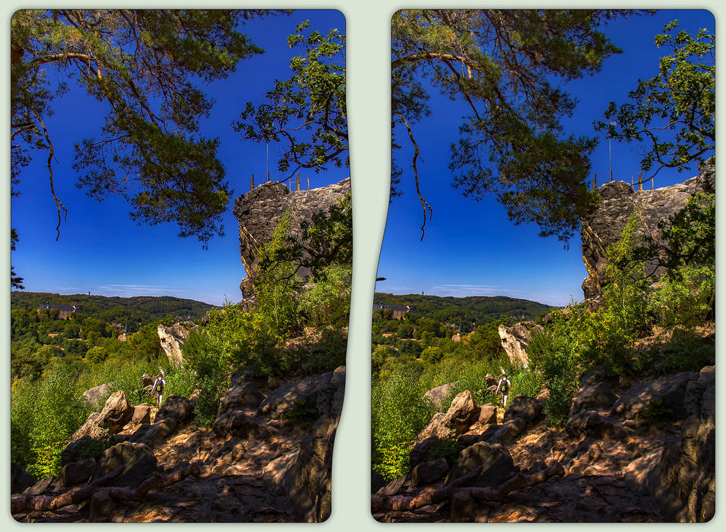 Grand father's rock 3-D / CrossEye / Stereoscopy by zour