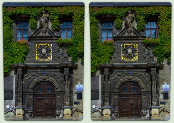 Town hall portal 3-D / CrossView / Stereoscopy by zour