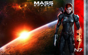 Mass Effect Female Shepard Wallpaper by energy84