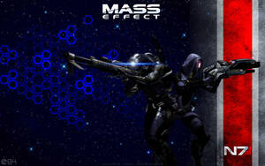 Mass Effect Tali and Legion Wallpaper by energy84