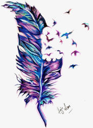 Freedom Of Feather by Fajralam