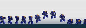 Galactic Marine - Walk cycle by BeholderKin