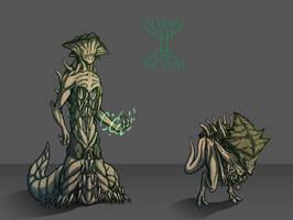 Green Demons by BeholderKin