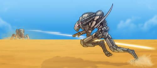 Sword VS Gun by BeholderKin