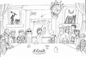Last Supper of David Christ by BeholderKin