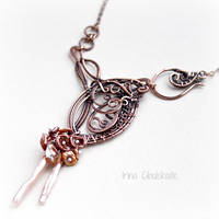 Copper necklace by taniri