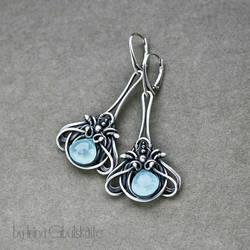 Aqua Earrings by taniri