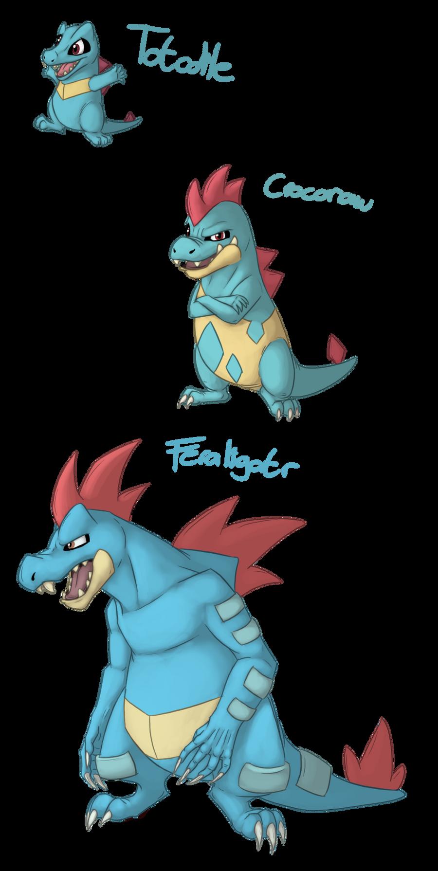 Totodiles Evolutions Cobu Pokemon Totodile Evolution Png 900x1790 Level Chart