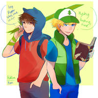 Pallete Swap challenge finn and dipper (Crossover) by RoseDraconite