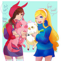 Pallete Swap  fionna and mabel (crossover) by RoseDraconite
