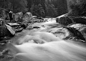 Flowing water by olebern