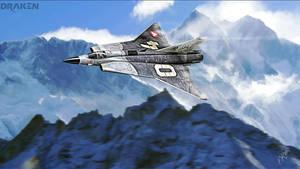 Saab 35 Draken by Distantstarr