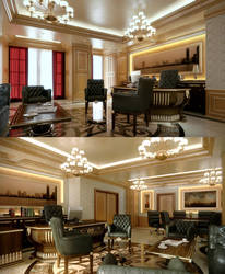 Semi Classic Office by kulayan3d