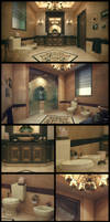 Classical Bathroom by kulayan3d