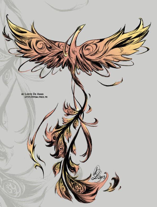 Phoenix tattoo by Little-Endian
