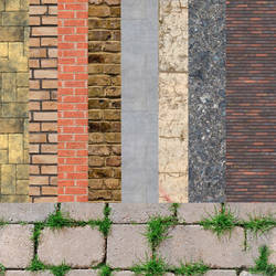 Bricks and Concrete by blenderunity3d