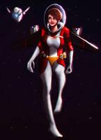 X249 space girl ? robot/droid? by Alexander--Art