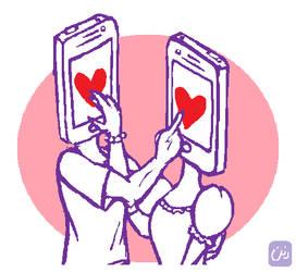 cyber love by creepydana