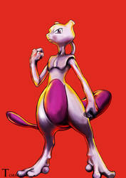 Commission: Mewtwo by ToRnUpTo