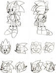 Classic Sonic and Metal Sonic Studies - Part 2 by TheEnigmaMachine