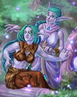 Night elves by EvilinLee