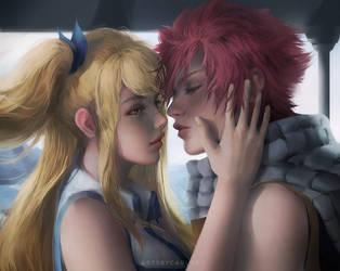Natsu and Lucy by artsbycarlos