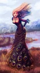 peacock dress by Clazz-X1