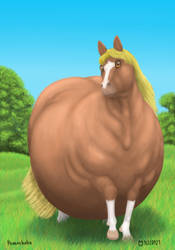 Obese horse by Soobel