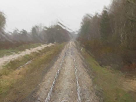 Rainy railway by Soobel