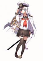 Commission : Admiral Hibiki by Kururew