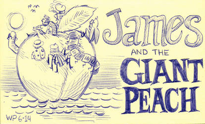 James And The Giant Peach - Sketch by WillPetrey
