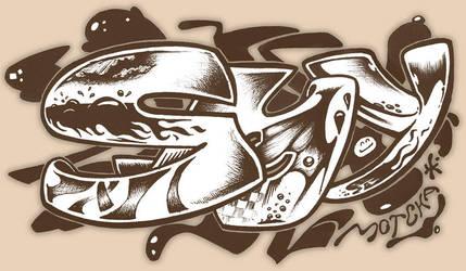 Graffiti with pen by smotcha