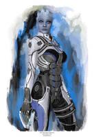 Liara From Mass Effect by j2Artist