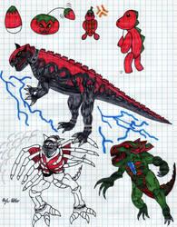 My Digivolution Line Drawn by KingDRagonZero