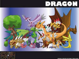 Oryu wall: dragon type by shinyscyther