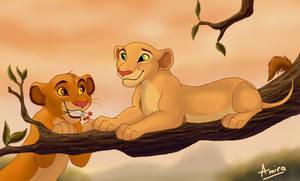 Simba and Nala by EshekiAmira